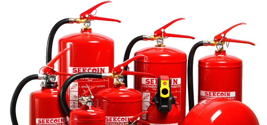 Uso correcto de un extintor en un incendio