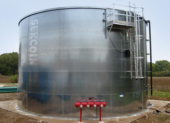 Depósitos de agua para negocios, naves industriales