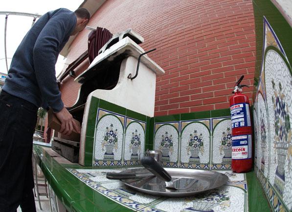 Extintores para la cocina, barbacoas y terrazas